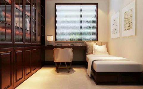 卧室书桌新中式风格装饰效果图