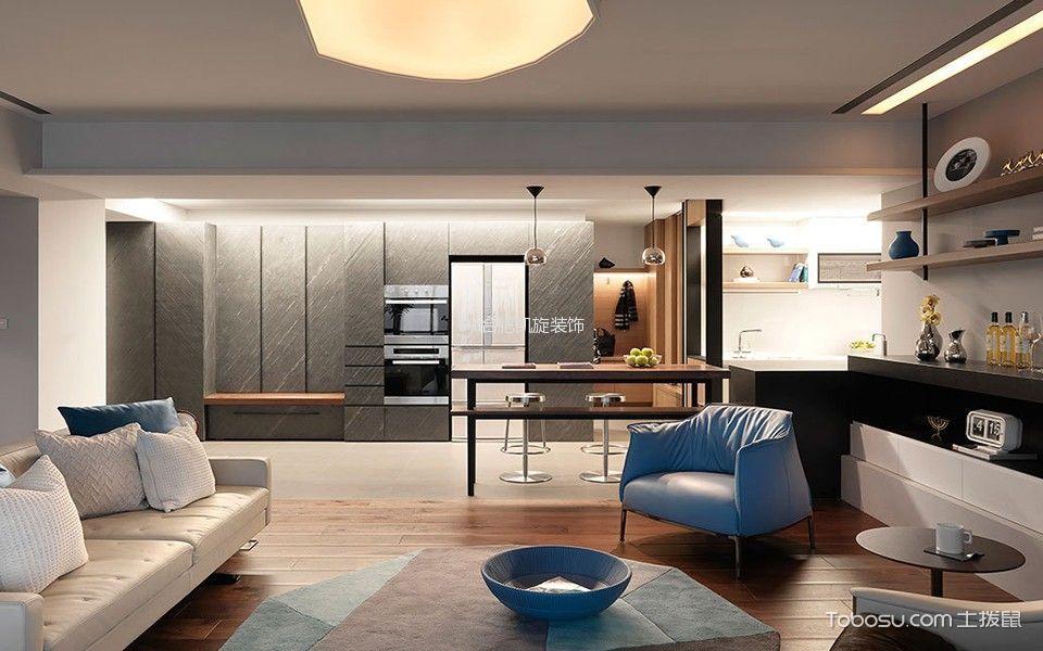 客厅白色沙发现代风格装饰图片