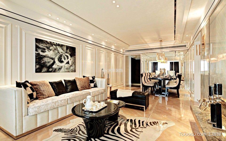 客厅 茶几_后现代风格140平米四室两厅新房装修效果图
