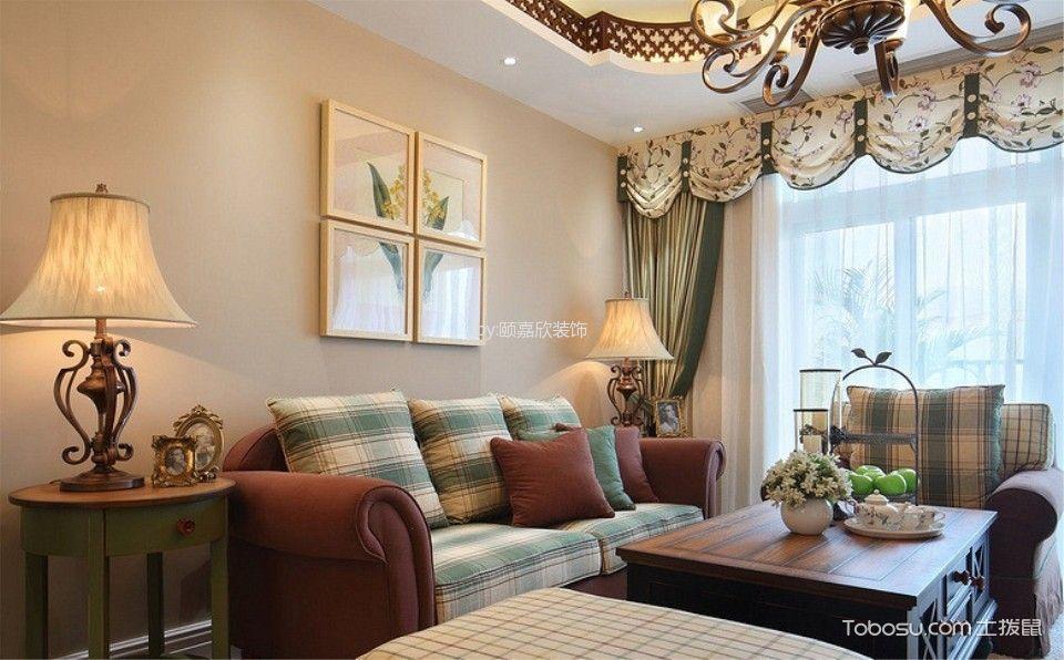 田园风格100平米两室两厅新房装修效果图
