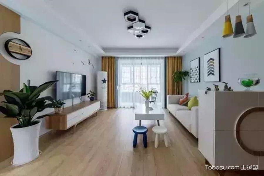 120平米北欧三居室家装效果图