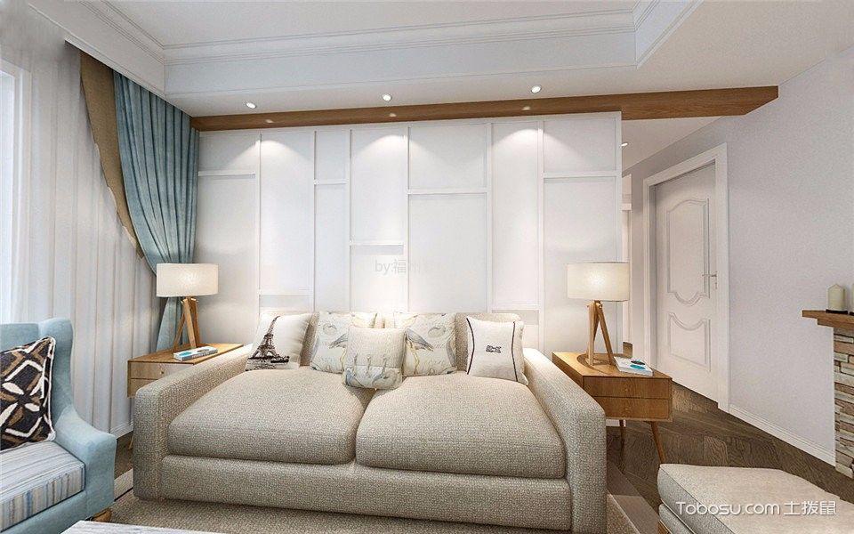 客厅 沙发_美式风格130平米三室两厅新房装修效果图