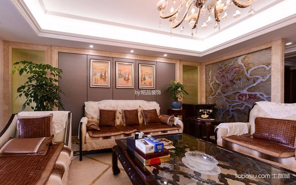 新古典风格120平米楼房室内装修效果图