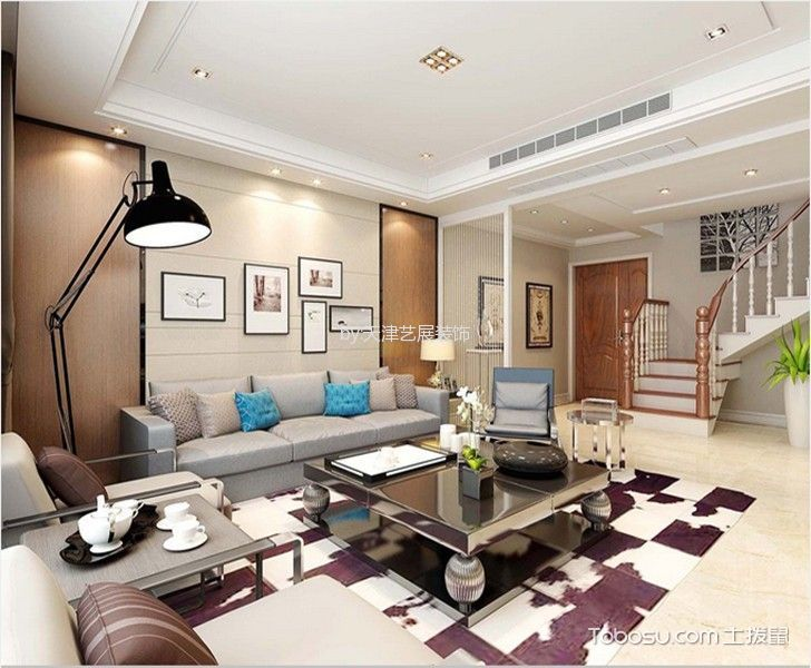 现代风格140平米跃层室内装修效果图