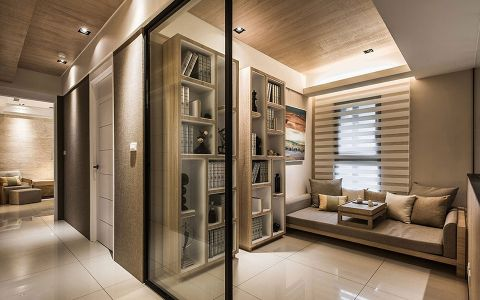 书房地砖现代风格装潢设计图片