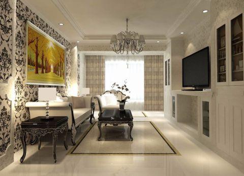 简欧风格120平米两室两厅新房装修效果图