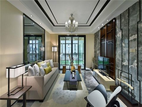 维拉小镇新中式风格三居室装修效果图