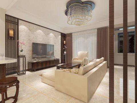 中式风格240平米别墅室内装修效果图