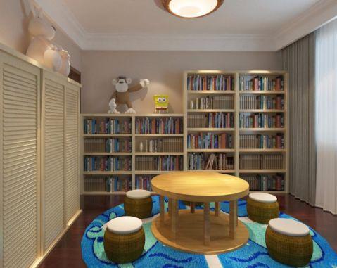 书房窗帘中式风格装饰效果图