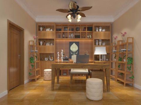 书房博古架中式风格装潢效果图