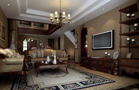 欧式风格180平米别墅室内装修效果图