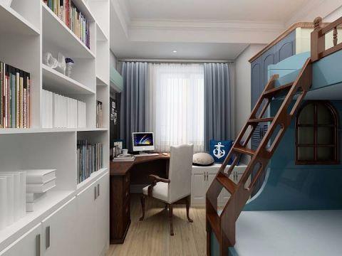 儿童房窗帘简欧风格装修设计图片
