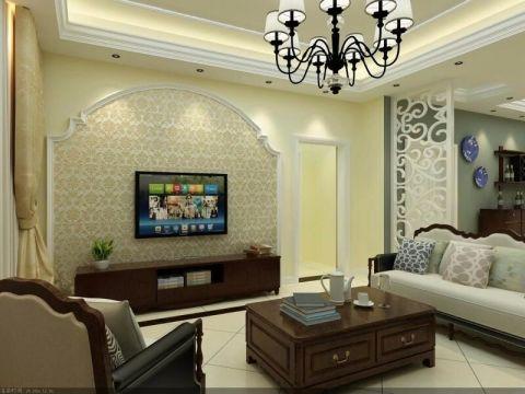 客厅电视柜美式风格装修图片
