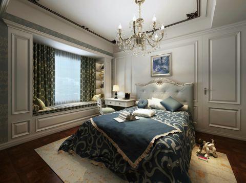 卧室飘窗美式风格装饰图片