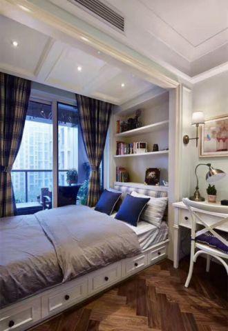 卧室榻榻米美式风格装饰图片