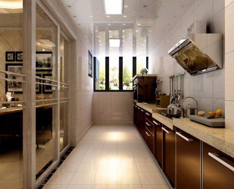 厨房推拉门现代简约风格装修效果图