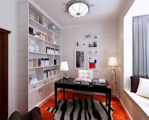 书房飘窗现代简约风格装饰效果图