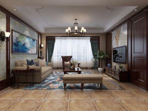 美式风格180平米跃层室内装修效果图