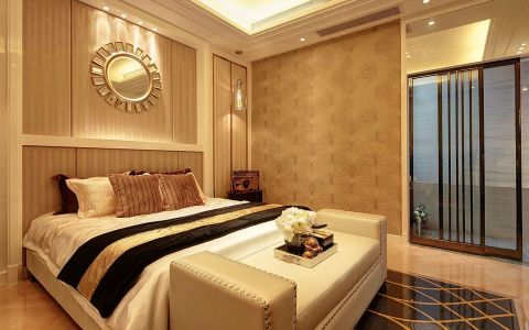 卧室床后现代风格效果图