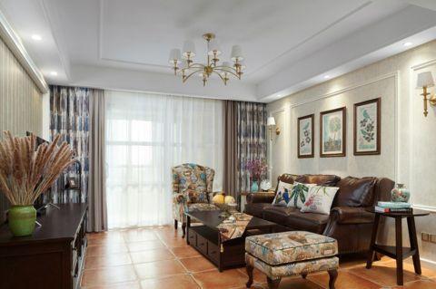 美式风格160平米三室两厅新房装修效果图