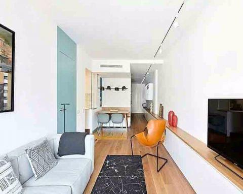 110平米现代简约风三居室装修效果图