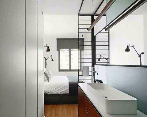 卧室隐形门现代简约风格装修图片
