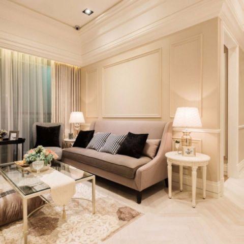 简欧风格110平米楼房室内装修效果图