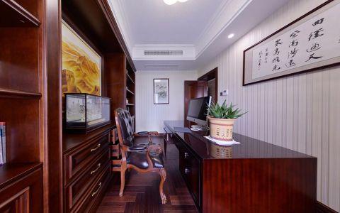 书房背景墙新古典风格装修图片
