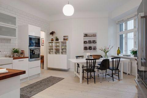 周新苑北欧风格三居室效果图