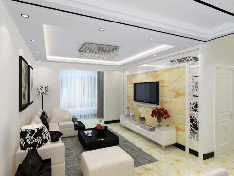 天洋城四代现代简约风格三居室装修效果图