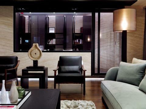 客厅窗台现代简约风格装潢设计图片