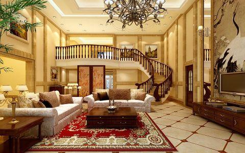 新古典风格120平米复式新房装修效果图