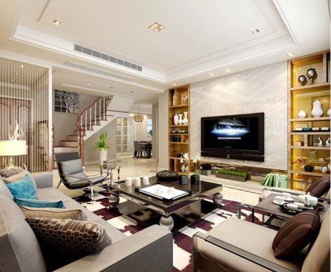 客厅茶几现代风格装潢效果图
