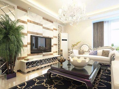 客厅电视柜新古典风格装饰设计图片
