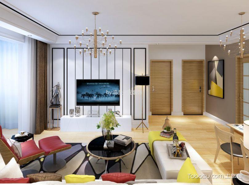 简约风格100平米公寓室内装修效果图