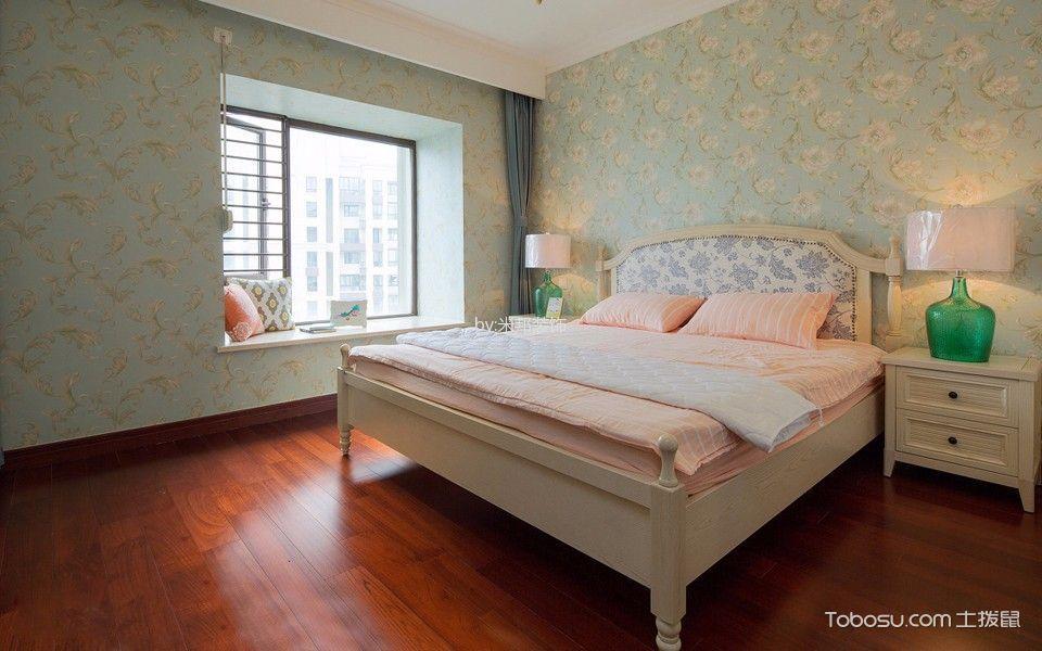 卧室白色飘窗混搭风格装饰设计图片