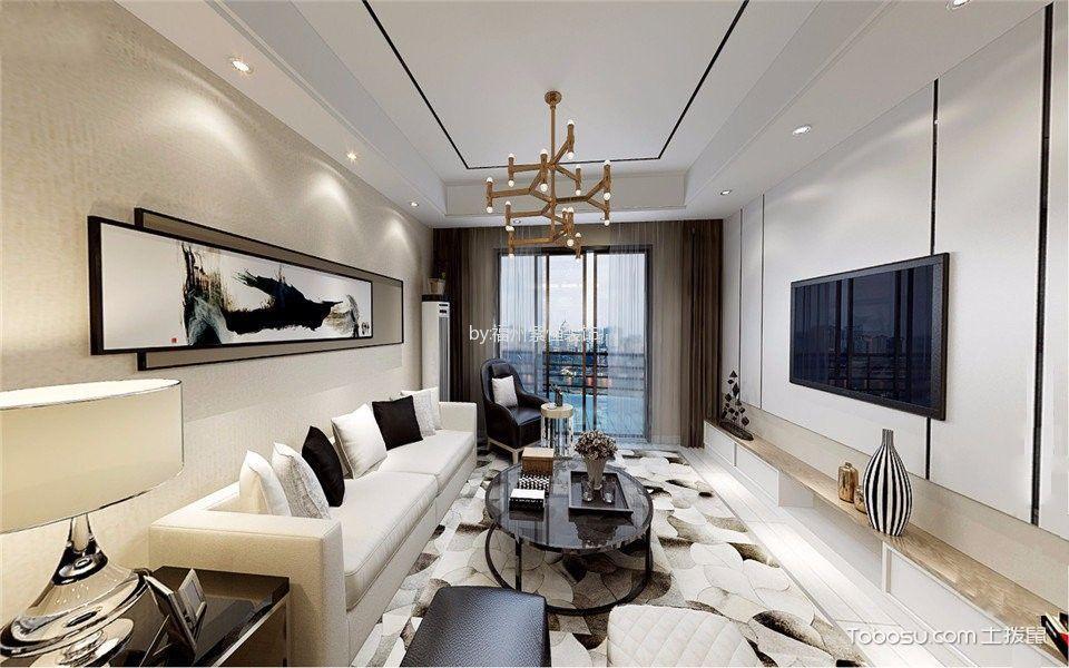 融侨外滩100平米现代风格二居室装修效果图