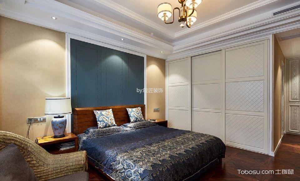 卧室咖啡色床古典风格装饰图片