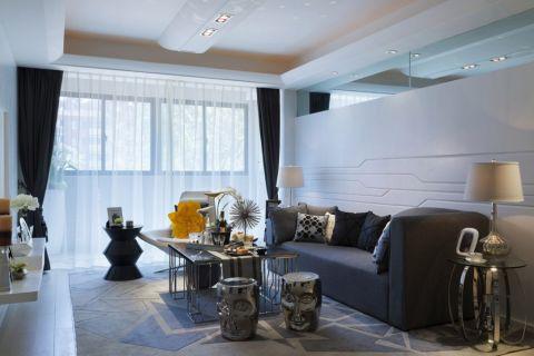 西溪小海100平米现代风格三居室装修效果图