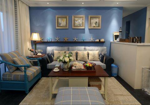 理想银泰城90平米地中海风格三居室装修效果图