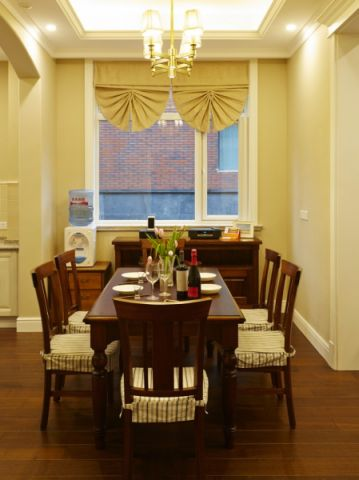 餐厅背景墙美式风格装潢效果图
