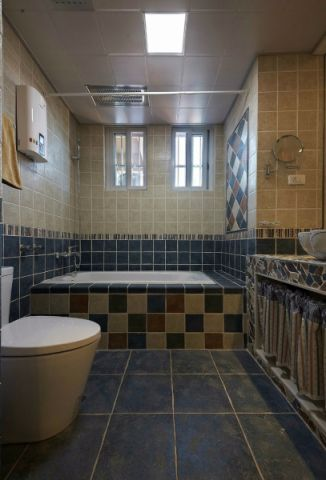 卫生间背景墙混搭风格装修图片