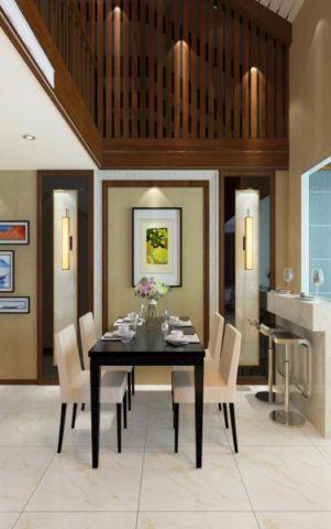餐厅背景墙现代中式风格效果图
