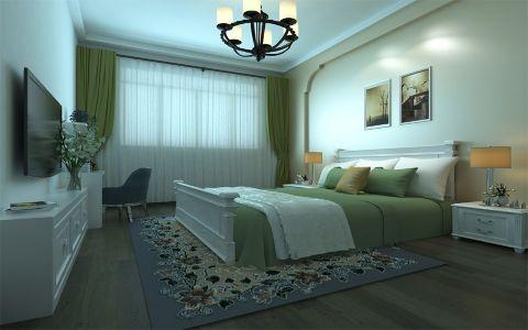 卧室窗帘现代中式风格装潢效果图