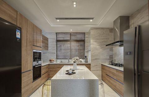 厨房吧台简中风格装潢效果图