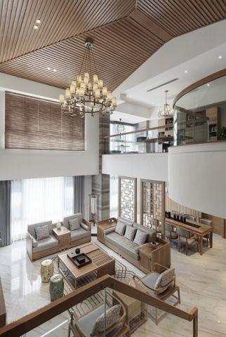 客厅吊顶简中风格装饰图片