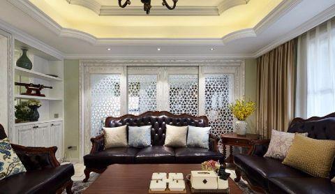 客厅茶几古典风格装潢效果图