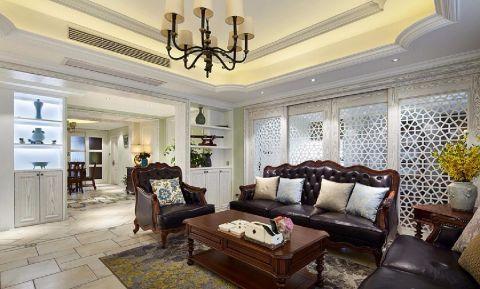 古典风格110平米三室两厅新房装修效果图