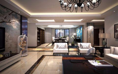 新古典风格150平米三室两厅室内装修效果图
