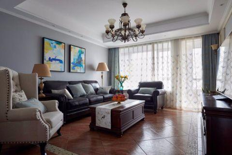 美式风格170平米三室两厅新房装修效果图